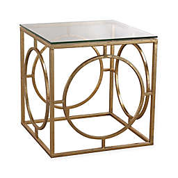 Sterling Industries Leafed Ring Table in Gold