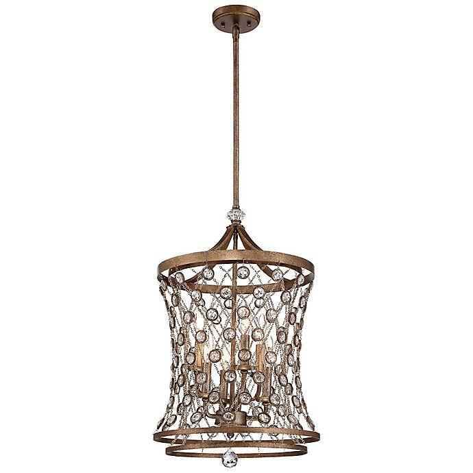 Alternate image 1 for Metropolitan® Vel Catena 6-Light Pendant in Arcadian Gold