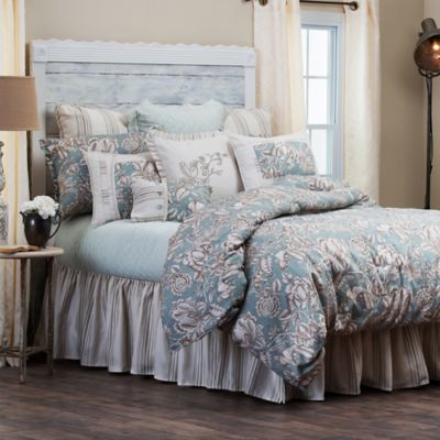 Hiend Accents Gramercy Comforter Set In Green Taupe Bed