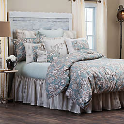HiEnd Accents Gramercy Comforter Set in Green/Taupe