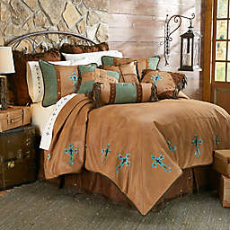 HiEnd Accents Las Cruces II Comforter Set in Tan