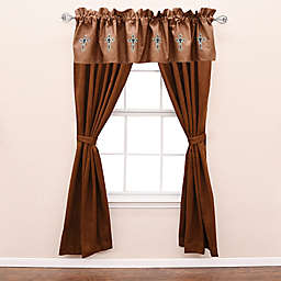 HiEnd Accents Las Cruces II 2-Pack 84-Inch Rod Pocket Window Curtain Panels in Brown