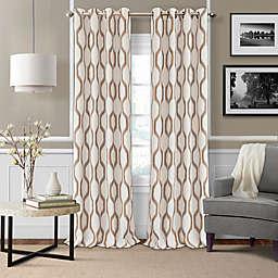 Elrene Renzo 84-Inch Grommet Ikat Geometric Linen Darkening Curtain Panel in Natural (Single)