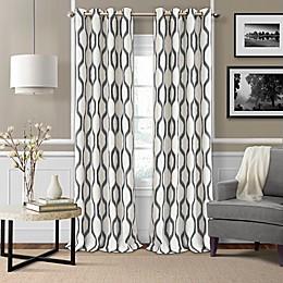 Elrene Renzo Grommet Ikat Geometric Linen Darkening Window Curtain Panel