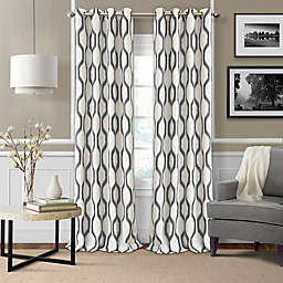 Elrene Renzo Grommet Ikat Geometric Linen Darkening Window Curtain Panel