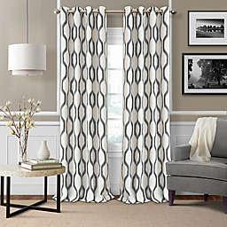 Elrene Renzo Grommet Ikat Geometric Linen Darkening Window Curtain Panel (Single)