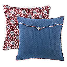 HiEnd Accents Bandera Reverse Envelope European Pillow Sham in Red