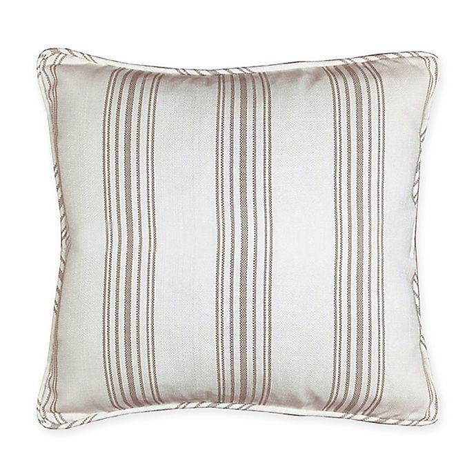 Alternate image 1 for HiEnd Accents Gramercy Striped European Pillow Sham in Cream