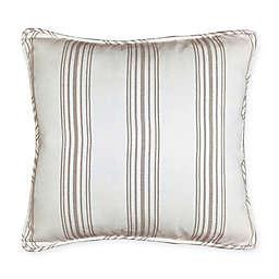 HiEnd Accents Gramercy Striped European Pillow Sham in Cream