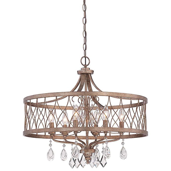 Minka Lavery West Liberty 6 Light Chandelier In Olympus Gold
