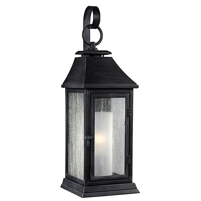 Alternate image 1 for Feiss® Federal 16.5-Inch Post-Mount Outdoor Light in Dark-Weathered Zinc