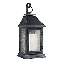 Feiss® Federal Post-Mount Outdoor Light in Dark-Weathered Zinc