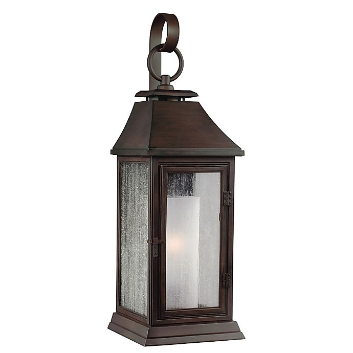 Alternate image 1 for Feiss® Federal 17-Inch Post-Mount Outdoor Light in Heritage Copper