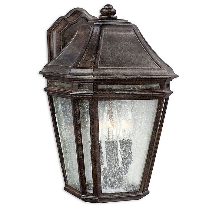 Alternate image 1 for Feiss® Londontowne Large 3-Light Outdoor Wall Sconce in Weathered Chestnut
