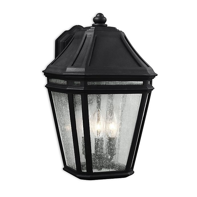 Alternate image 1 for Feiss® Londontowne Large 3-Light Outdoor Wall Sconce in Black