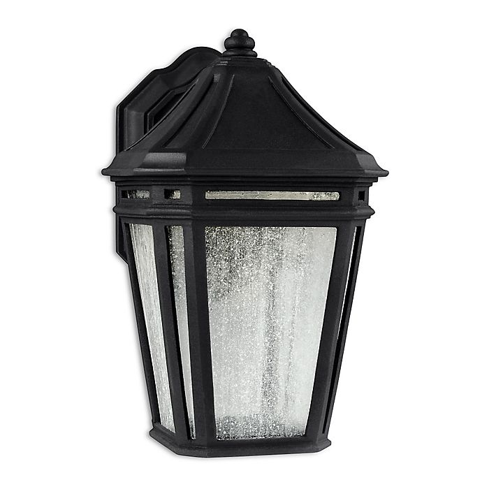 Alternate image 1 for Feiss® Londontowne Large 1-Light Outdoor LED Wall Sconce in Black