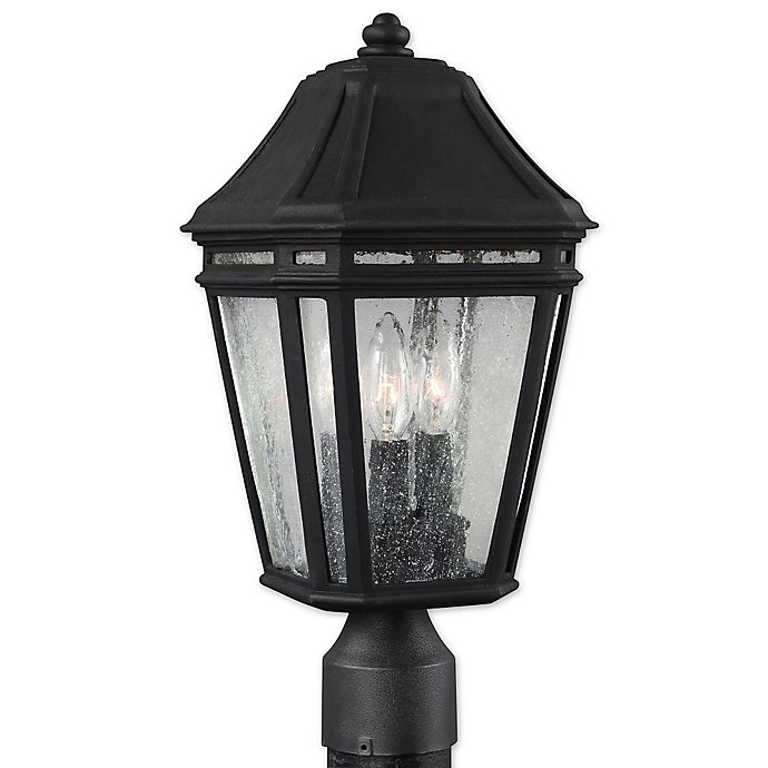 Alternate image 1 for Feiss® Londontowne 3-Light Outdoor 17-Inch Post Light in Black