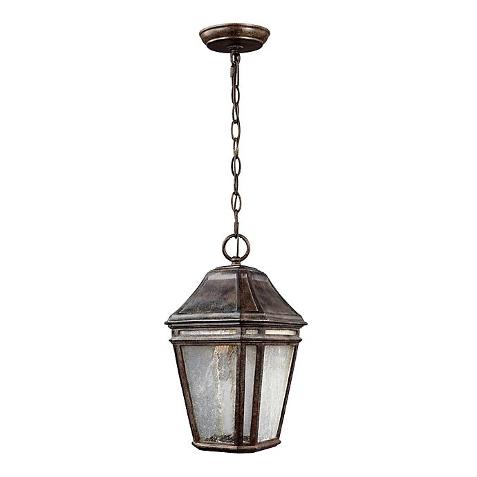Alternate image 1 for Feiss® Londontowne Medium LED Outdoor Pendant in Weathered Chestnut
