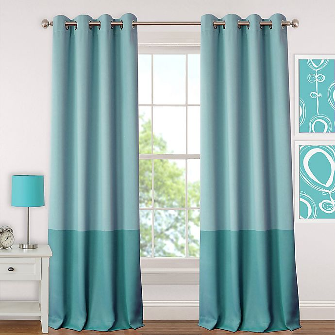 Alternate image 1 for Elrene  Madeline Room-Darkening Grommet Top Window Curtain Panel