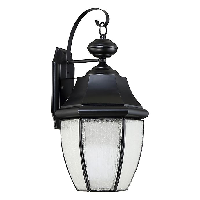 Alternate image 1 for Quoizel Newberry Outdoor Wall Lantern in Black