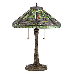 Quoizel Tiffany Jungle Dragonfly Table Lamp in Bronze
