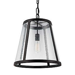 Feiss® Harrow 1-Light Pendant in Oil Rubbed Bronze in Large