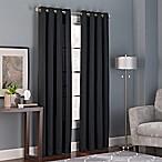 Bianca 84-Inch Grommet Top Window Curtain Panel in Black