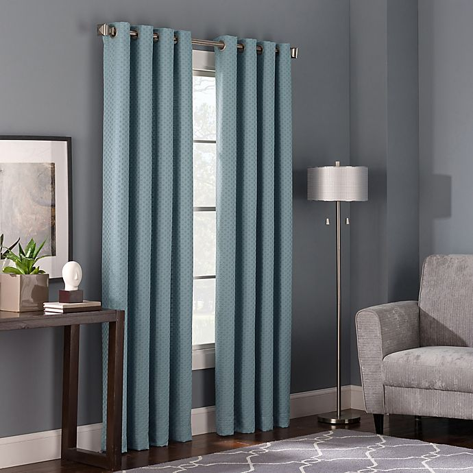 Alternate image 1 for Bianca 84-Inch Grommet Top Window Curtain Panel in Spa