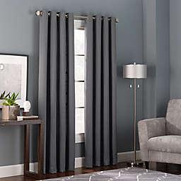 Bianca 84-Inch Grommet Top Window Curtain Panel in Charcoal