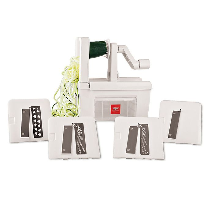 Alternate image 1 for Paderno World Cuisine Spiralizer Pro, 4-Blade