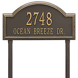 Whitehall Providence Arch 2-Line Lawn Mounted Plaque in Bronze/Gold