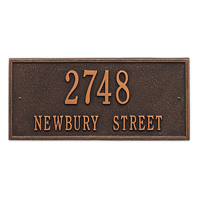 Whitehall Product Hartford 2-Line Wall Plaque