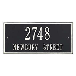 Whitehall Product Hartford 2-Line Wall Plaque in Black/White