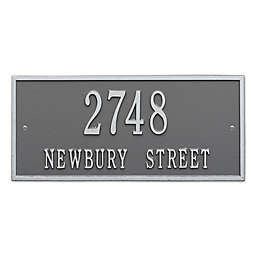 Whitehall Product Hartford 2-Line Wall Plaque in Pewter Silver