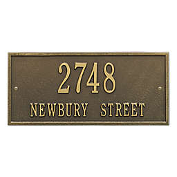 Whitehall Product Hartford 2-Line Wall Plaque in Brass