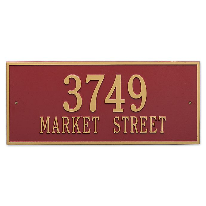 Alternate image 1 for Whitehall Products Hartford 2-Line Standard Wall Plaque in Red/Gold