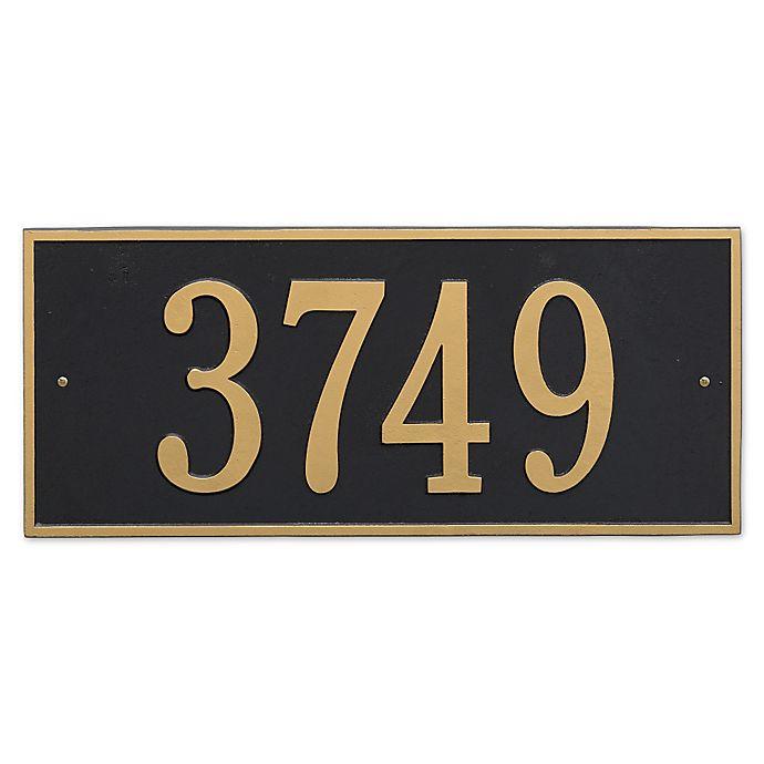Alternate image 1 for Hartford Rectangular Estate Wall 1-Line Address Plaque