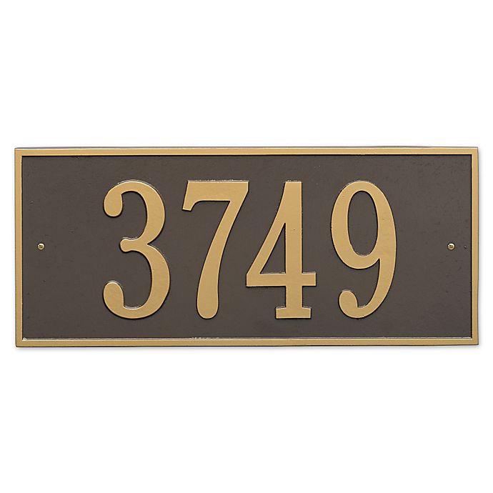 Alternate image 1 for Hartford Rectangular Estate Wall 1-Line Address Plaque in Bronze Gold