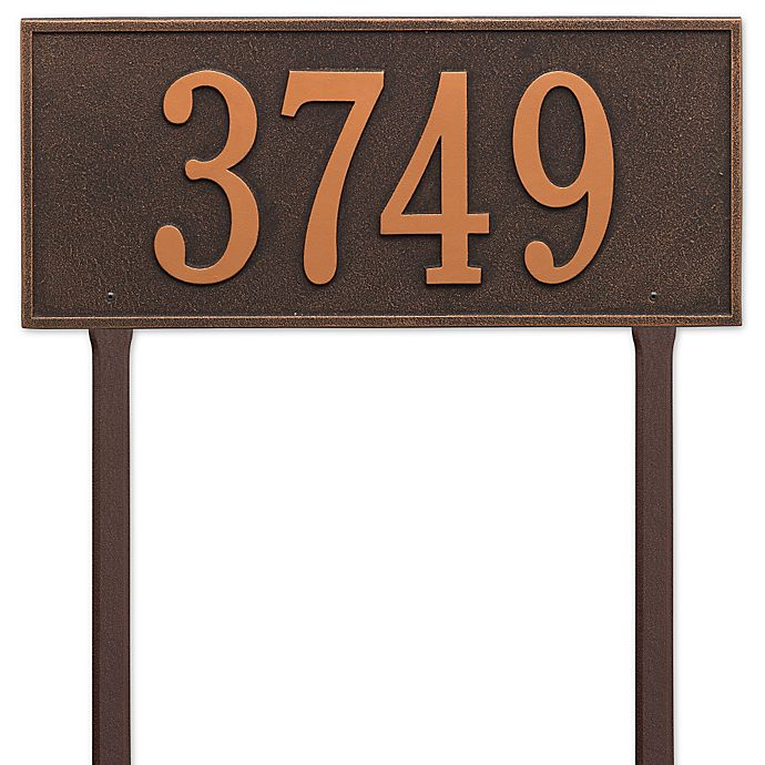 Alternate image 1 for Whitehall Products Hartford Estate Lawn Address Plaque in Bronze