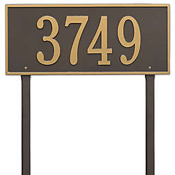 Whitehall Products Hartford Estate Lawn Address Plaque in Bronze/Gold