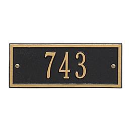 Hartford 1-Line Petite Wall Plaque in Bronze/Gold