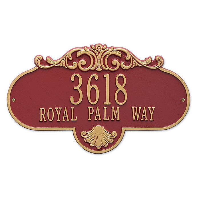 Alternate image 1 for Rochelle Grande 2-Line Wall Plaque in White/Gold