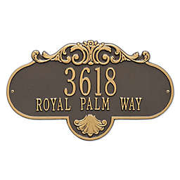Rochelle Grande 2-Line Wall Plaque in Bronze/Gold