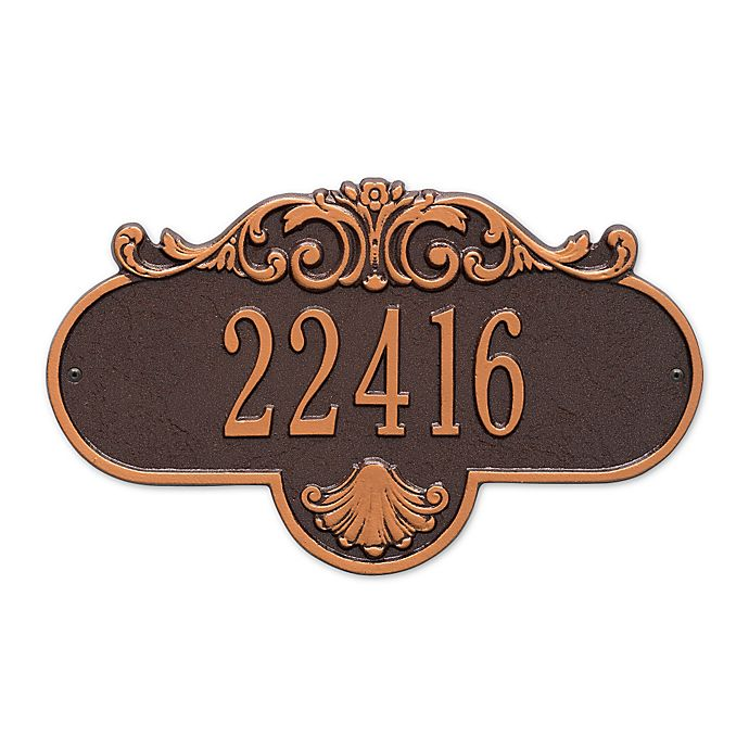 Alternate image 1 for Whitehall Products Standard One-Line Rochelle Wall Plaque in Antique Copper