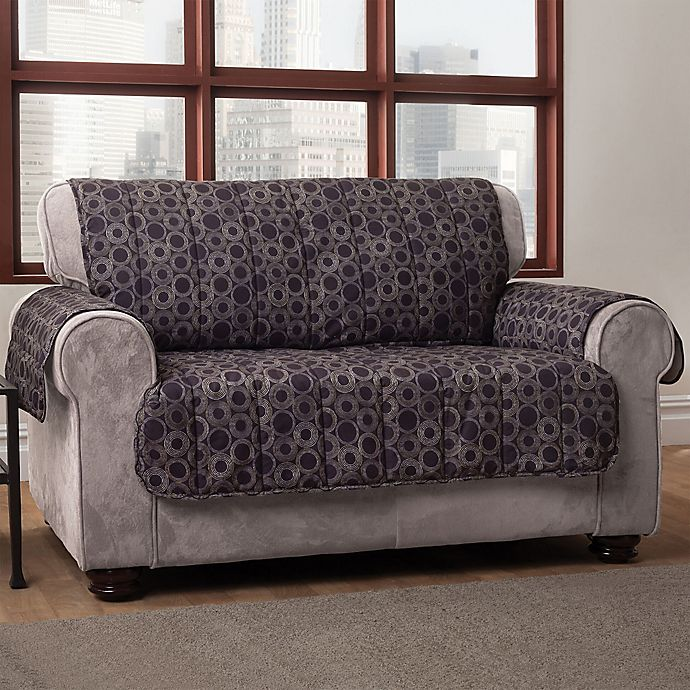 Alternate image 1 for Circles Sofa Cover in Black
