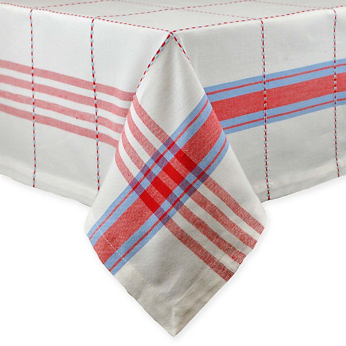 Alternate image 1 for Copeville Plaid 52-Inch x 52-Inch Square Tablecloth