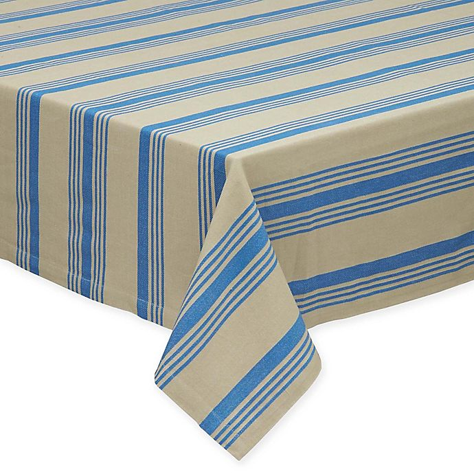 Alternate image 1 for Design Imports Sailor Stripe 52-Inch Square Tablecloth