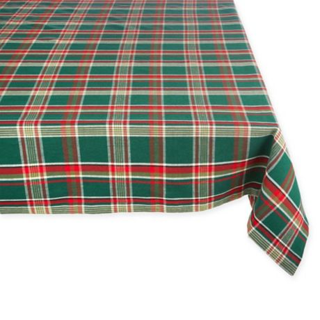 Holiday Plaid Tablecloth In Dark Green Bed Bath Amp Beyond