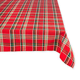 Tango Holiday Plaid Tablecloth in Red