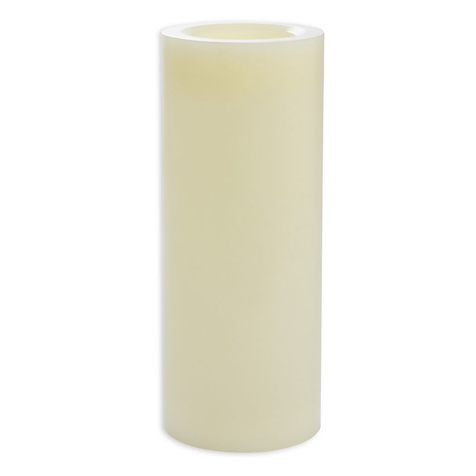 Alternate image 1 for Candle Impressions® 4-Inch x 10-Inch  Smooth Flameless Wax Pillar Candles with Vanilla Fragrance